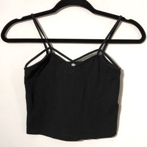 Cropped cut out cami top